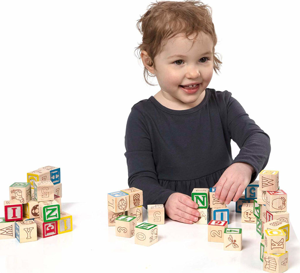 Melissa and Doug Blocks Wooden ABC &123 3