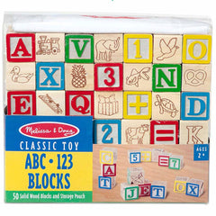 Melissa and Doug Blocks Wooden ABC &123
