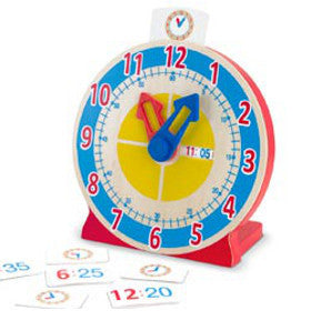Melissa and Doug Clock Turn and Tell