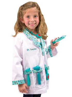 Melissa and Doug Dress Up Doctor's Coat including Instruments