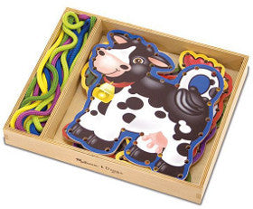 Melissa and Doug Lace and Trace Farm Animals Wooden