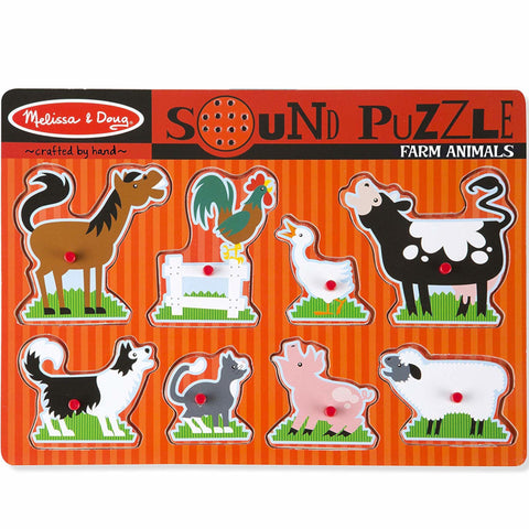 Melissa and Doug Puzzle Farm Animals Sound 8pc