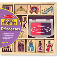 Melissa and Doug Stamp Set Princesses Wooden
