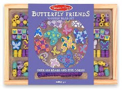 Melissa and Doug Butterfly Friends Wooden Bead Set