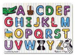Melissa and Doug Puzzle Wooden Peg Alphabet 26pc