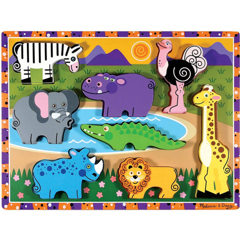 Melissa and Doug Puzzle Safari Chunky 8pc