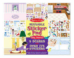 Melissa and Doug Sticker Pad Play House (reusable)