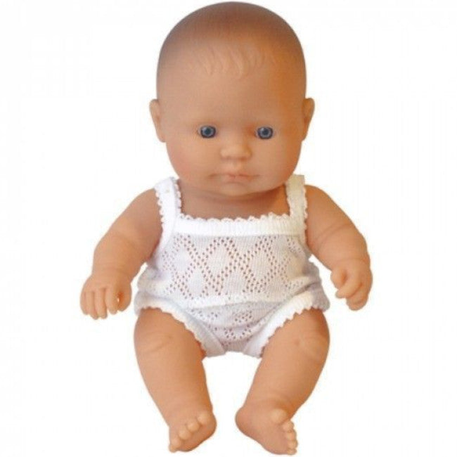 Miniland Doll Girl Caucasian 21cm with Underclothes