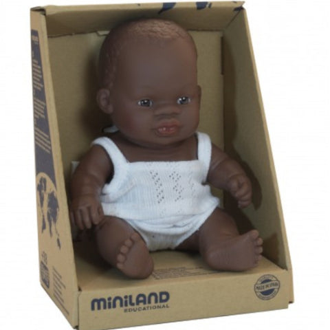 Miniland Doll Girl African 21cm with Underclothes 1