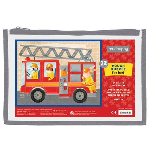 Mudpuppy Puzzle Fire Truck 12 pc