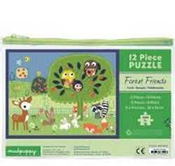 Mudpuppy Puzzle Forest Friends 12pc