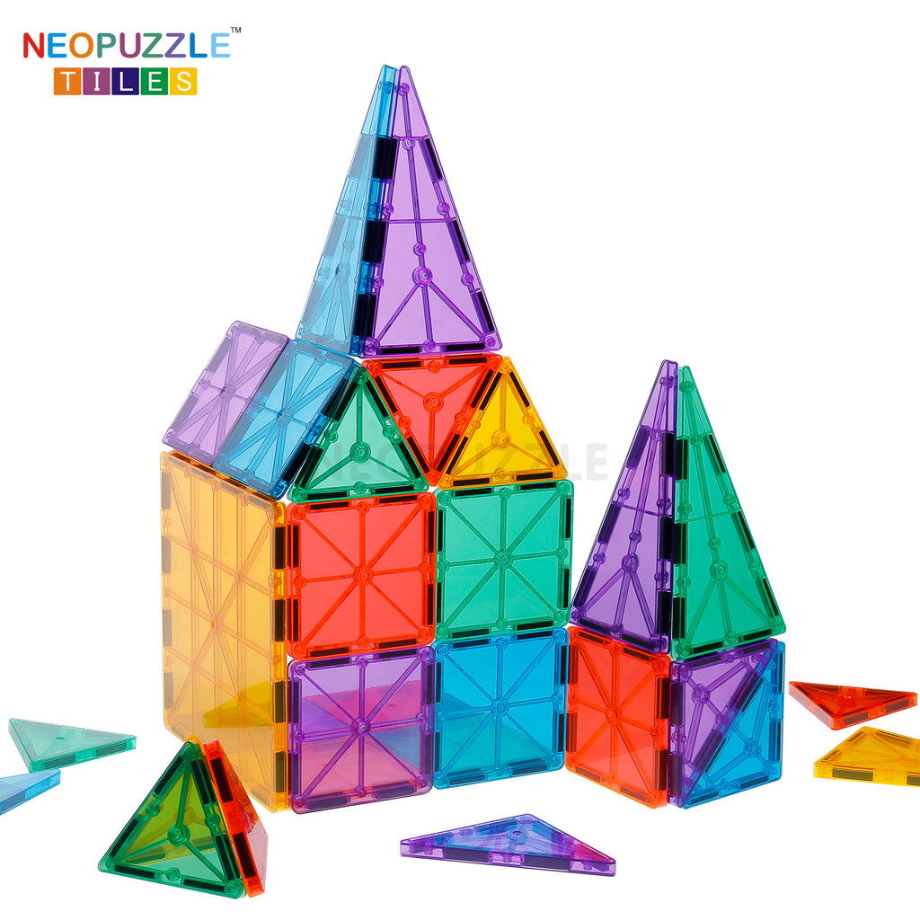 Neopuzzle Magnetic Building Tiles 18pc