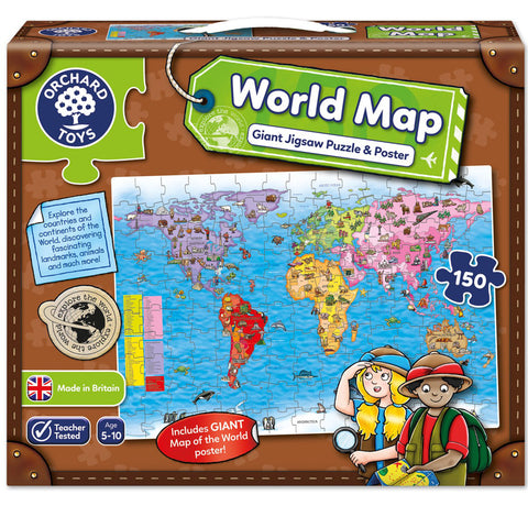 Orchard Toys Giant Puzzle World Map 150pc & Poster