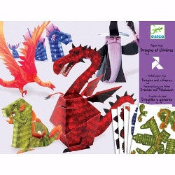 Djeco Paper Toys Dragons and Chimeras - K and K Creative Toys