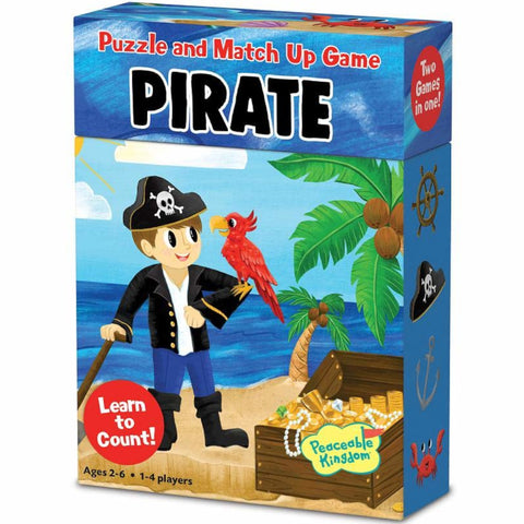Peaceable Kingdom Puzzle and Match Up Game Pirate