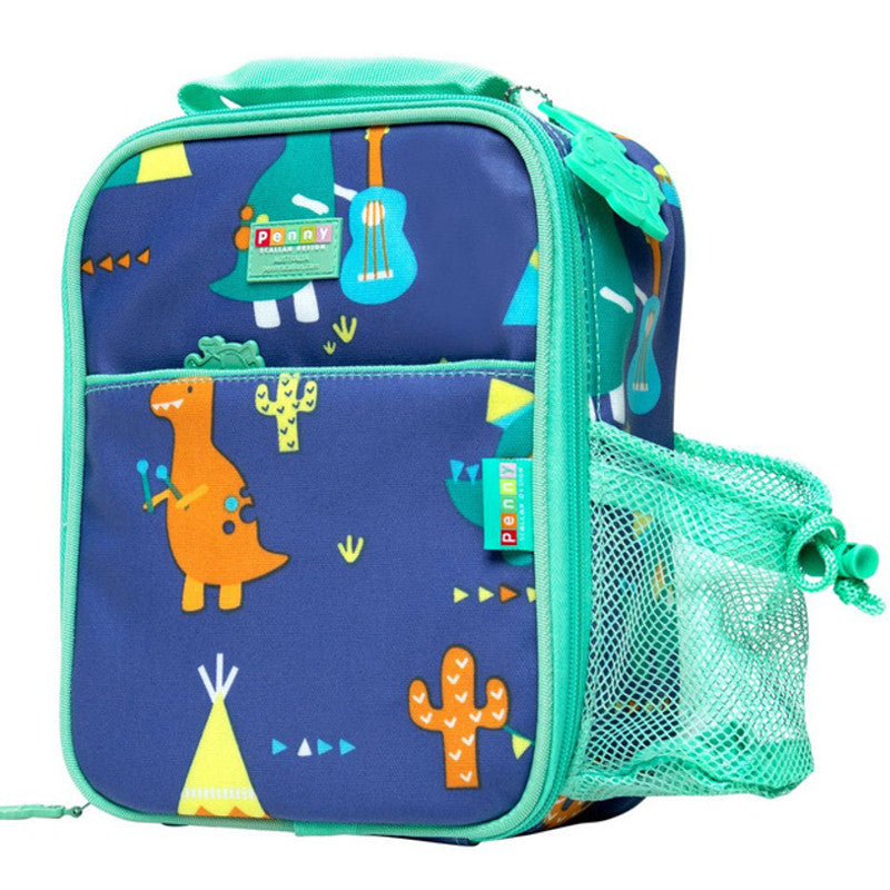 Penny Scallan Bento Cooler Bag with Pocket Dino Rock 2