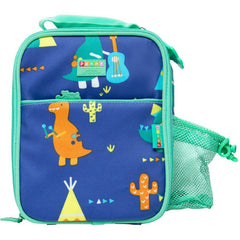 Penny Scallan Bento Cooler Bag with Pocket Dino Rock