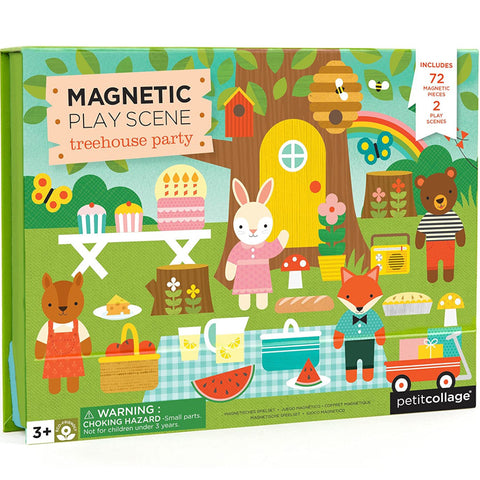 Petitcollage Magnetic Play Scene Treehouse Party