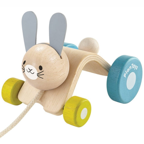 Plan Toys Pull Along Hopping Rabbit Wooden