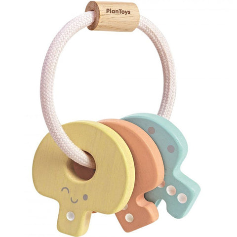 Plan Toys Key Rattle Pastel Wooden