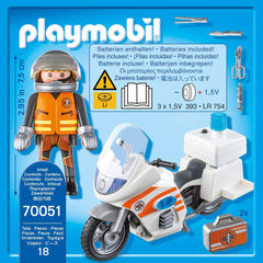Playmobil Motorbike Emergency 2