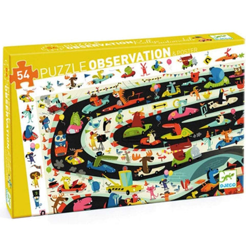 Djeco Puzzle Observation Car Rally 54pc