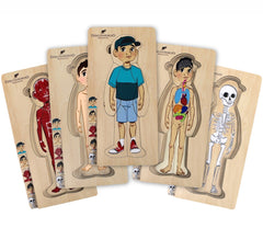 Discoveroo Puzzle Wooden Boy Layer