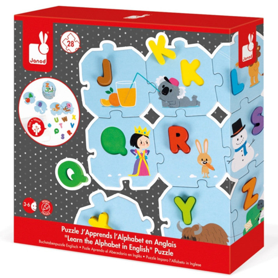 Janod Puzzle Learn the Alphabet with Wooden Letters – K ...