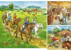 Ravensburger A Day with the Horses Puzzle 3 x 49pc