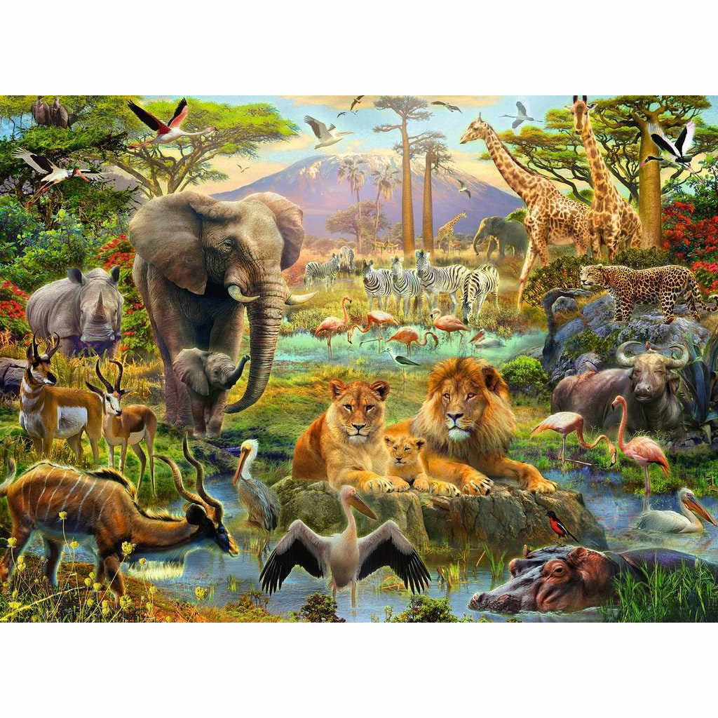 Ravensburger Puzzle Animals of the Savanna 200pc 1