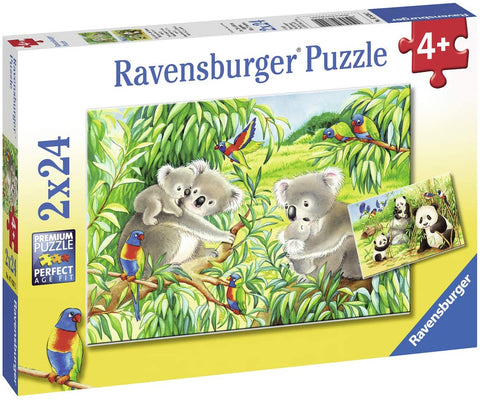 Ravensburger Puzzle Sweet Koalas and Pandas 2 x 24pc