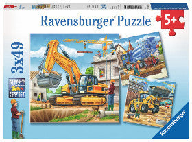 Ravensburger Puzzle Large Construction Vehicles 3x49pc