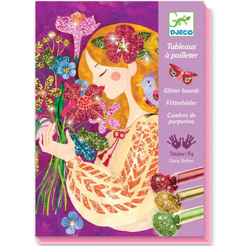 Djeco The Scent Of Flowers Glitter Boards