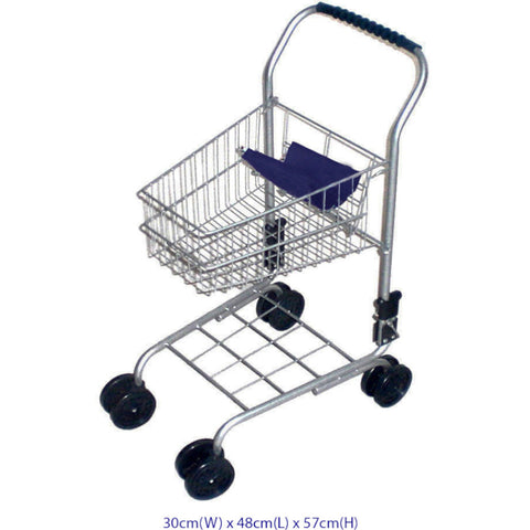 Supermarket Trolley- Silver/Blue