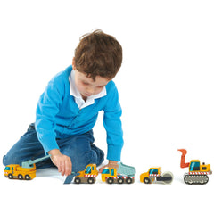 Tender Leaf Toys  Construction Cars Wooden 5pc 4