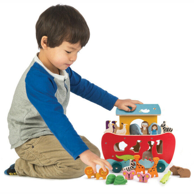 Tender Leaf Noah's Ark Shape Sorter Wooden 2