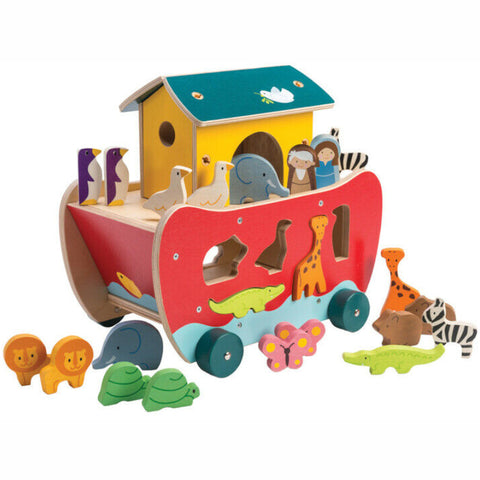 Tender Leaf Noah's Ark Shape Sorter Wooden1