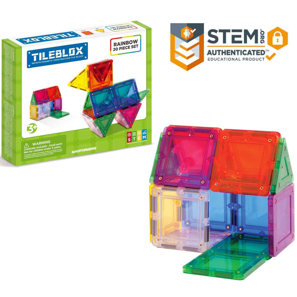 Tileblox Rainbow Set 20 piece