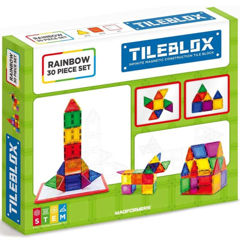 Tileblox Rainbow Set 30 piece