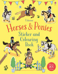 Usborne  Horses & Ponies Sticker and Colouring Book