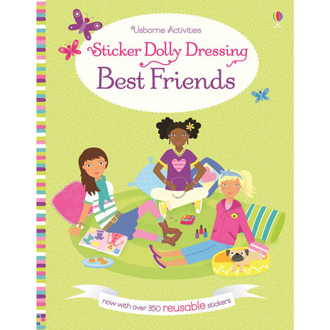 Usborne Sticker Dolly Dressing Best Friends Book