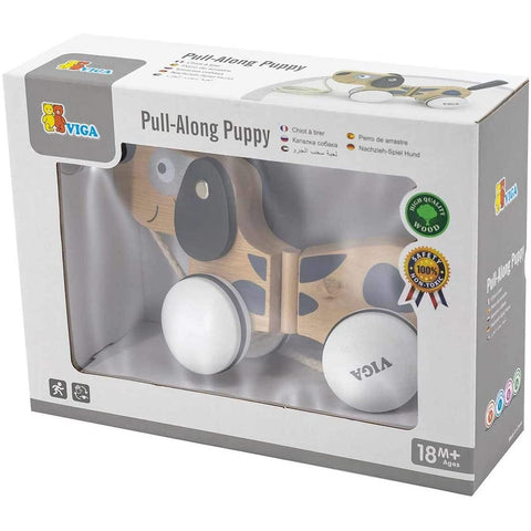 Viga Pull Along Puppy Wooden