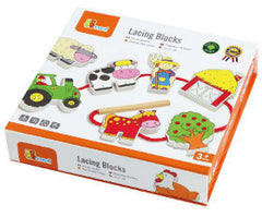 Viga Lacing Blocks - Farm Wooden