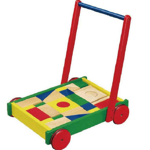 Viga Walker Wagon with Blocks