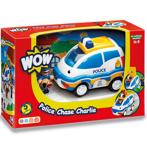 WOW Police Chase Charlie Motorised Police Car Set