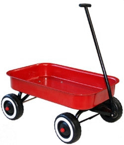Red Wagon Large Metal