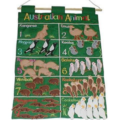 Wall Hanging Australian Animals Counting