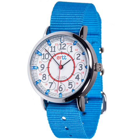 Easy Read Time Teacher Watch Blue