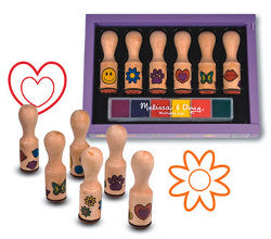 Melissa and Doug Happy Handle Stamps Wooden