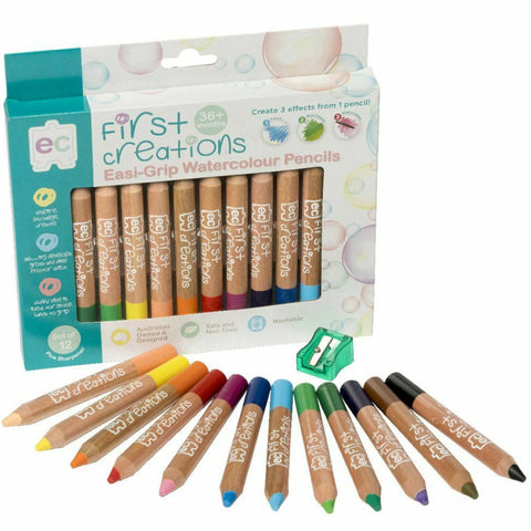 First Creations Pencils Easi-Grip Coloured Wooden 12